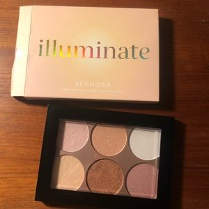 Sephora illuminate highlighting palette NIB